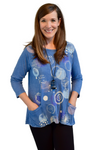 Jess & Jane Magic Dots Pullover in Marine