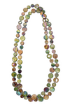 Sea Lily Mother of Pearl Single Strand Necklace in Green/Brown