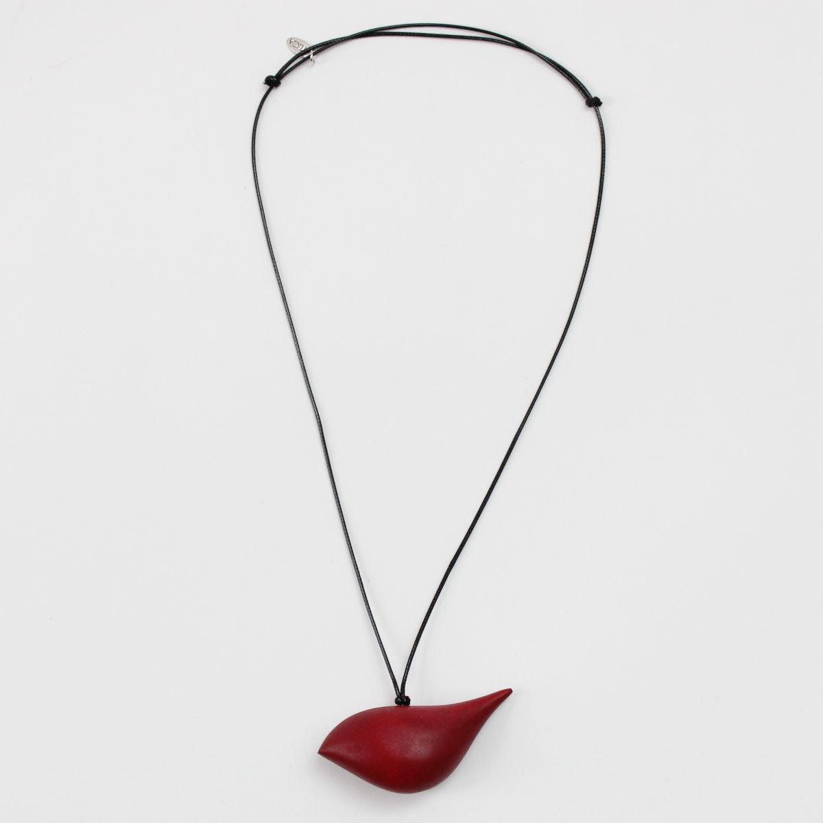 Robin Pendant Necklace in Red