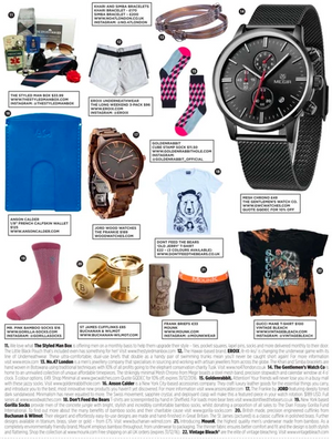 "1/8"" Wallet Featured in December British GQ"