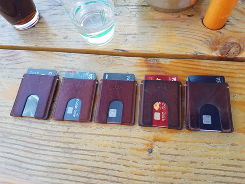 Anson Calder Card Wallets Aged