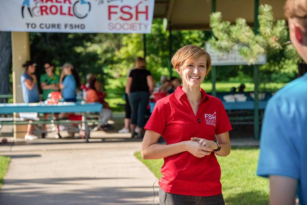 Allison Calder at FSHD walk and roll event sponsored by Anson Calder
