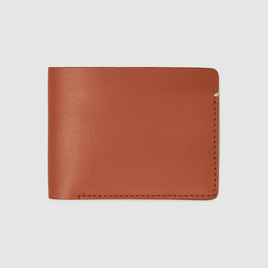 Anson Calder Billfold Wallet French Calfskin Leather _cognac