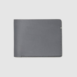 Anson Calder Billfold Wallet French Calfskin Leather _steel-grey