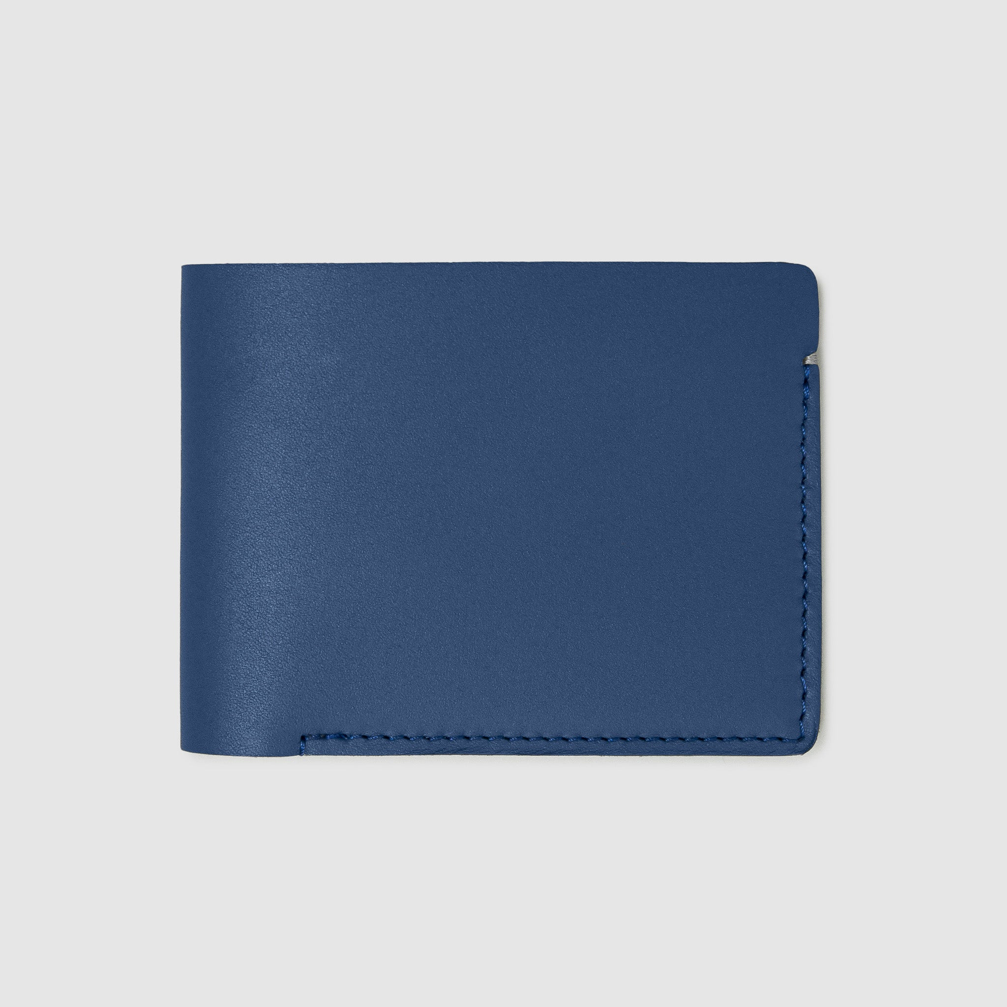 Anson Calder Billfold Wallet French Calfskin Leather _cobalt