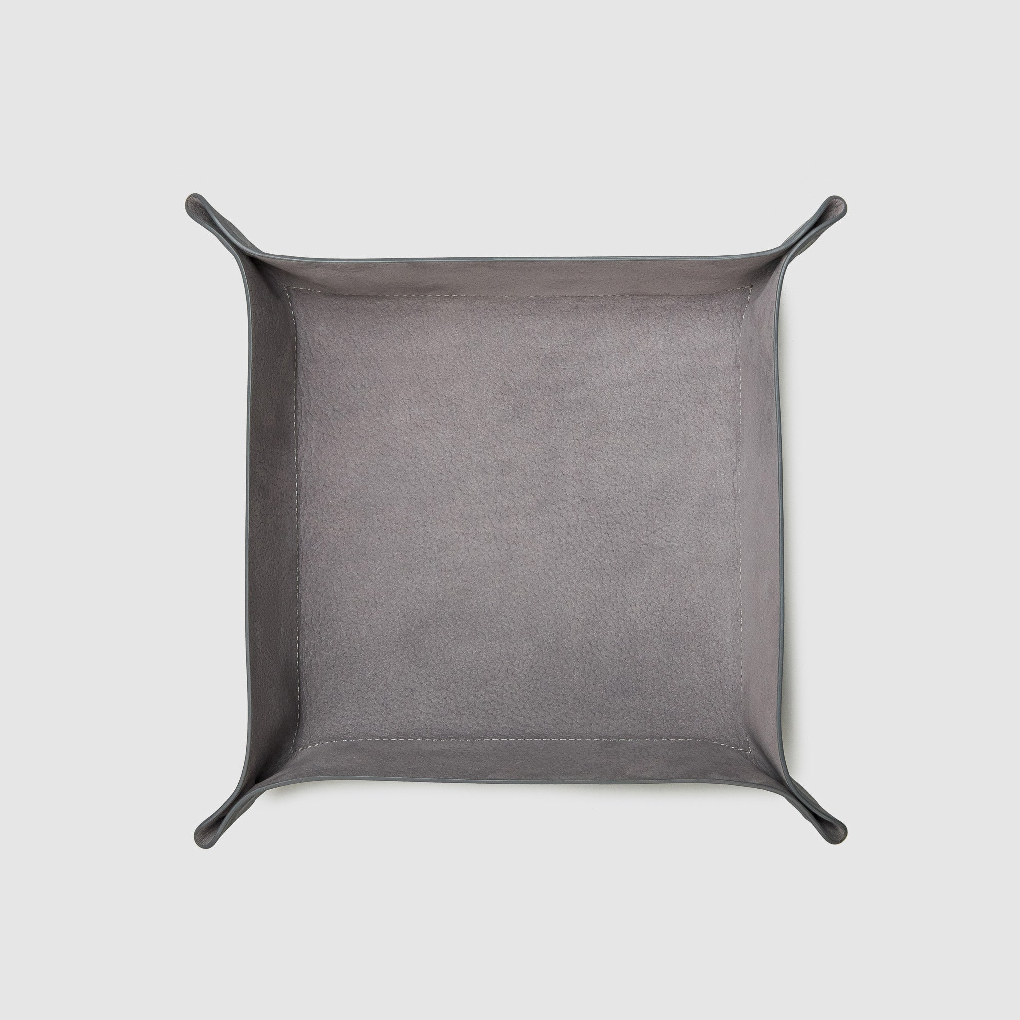 catch-all tray anson calder french calfskin leather _steel-grey-titanium