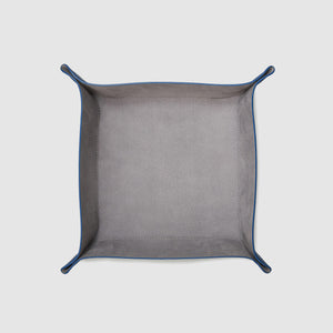 catch-all tray anson calder french calfskin leather _cobalt-titanium
