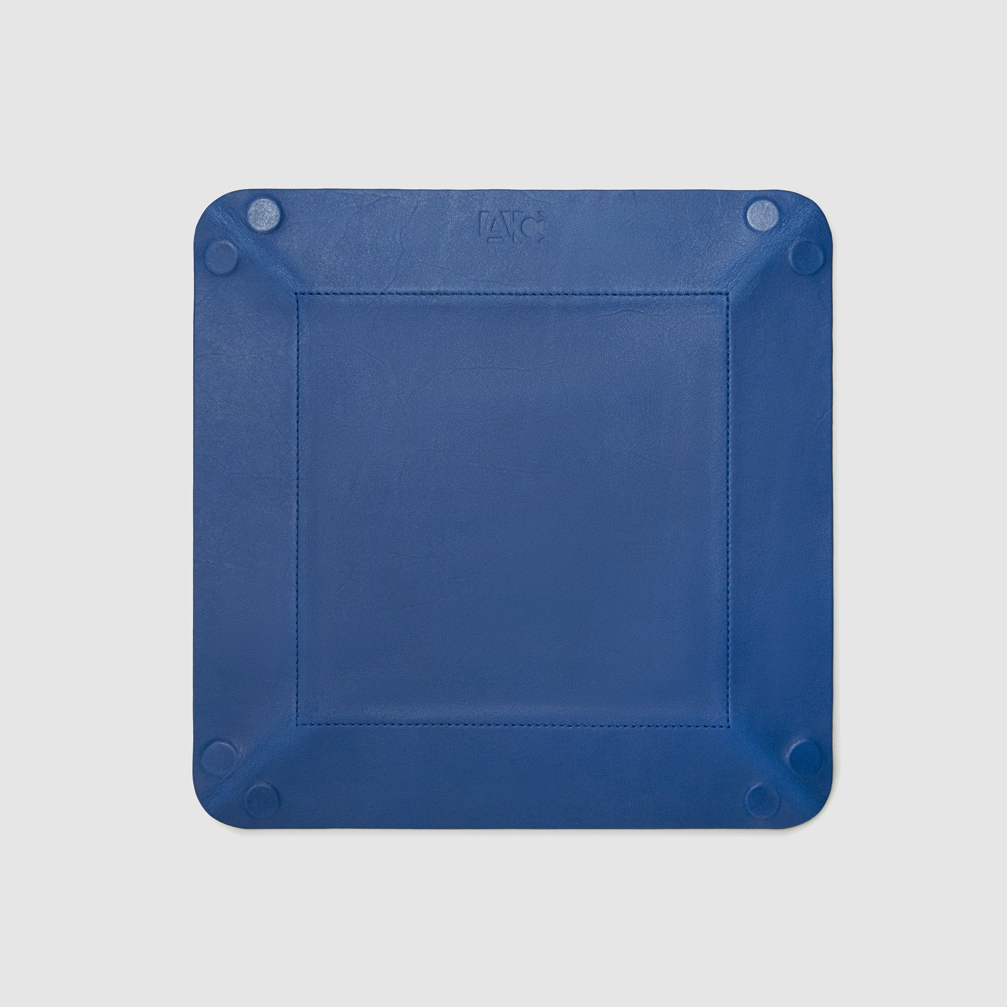catch-all tray anson calder french calfskin leather *hover _cobalt-titanium