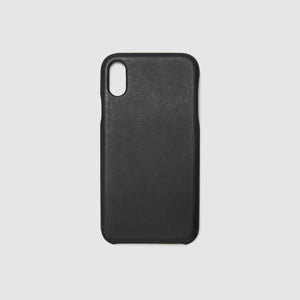 iphone case x xs xr  french calfskin leather sleeve protection smart phone holder _black