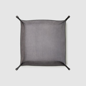 catch-all tray anson calder french calfskin leather _black-titanium