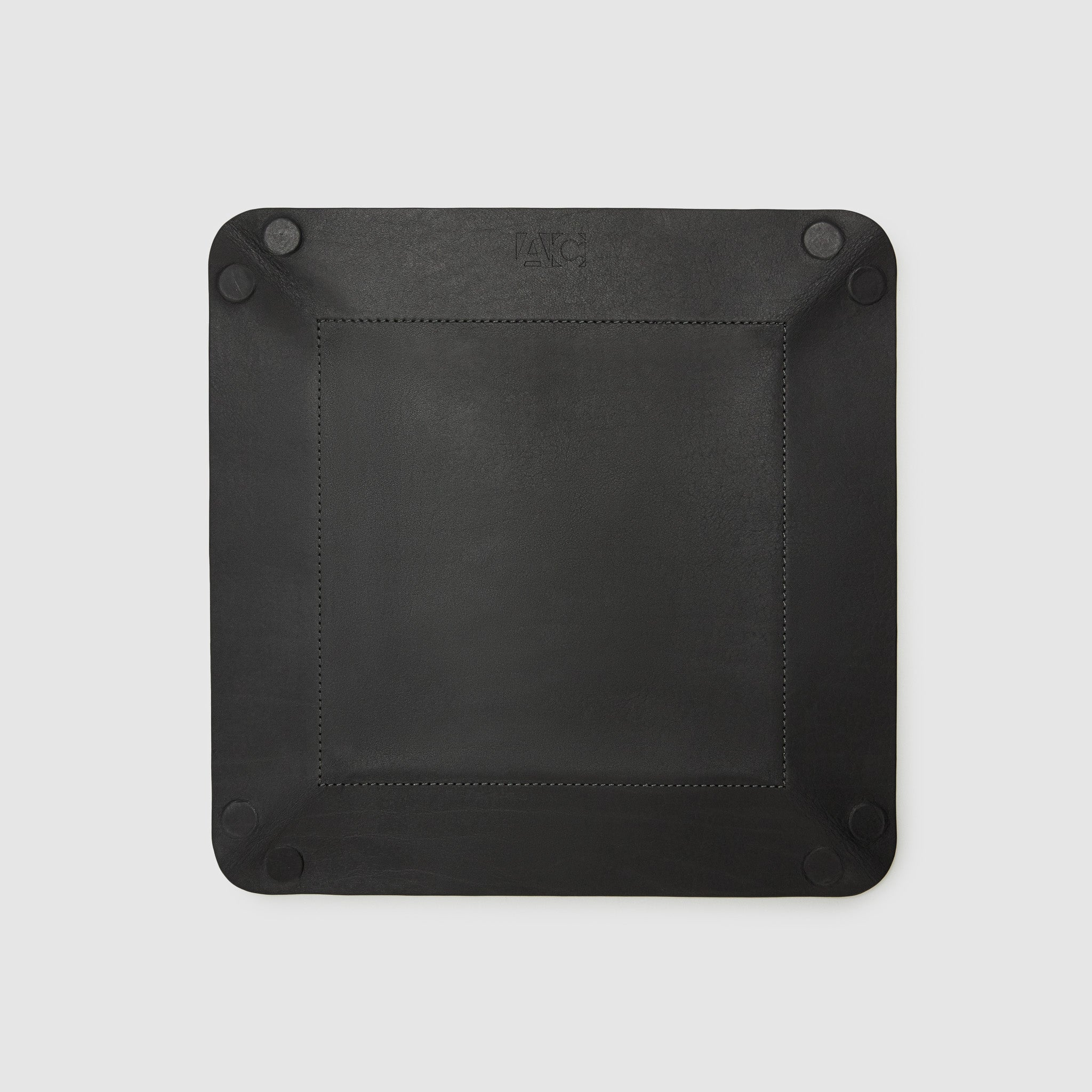 catch-all tray anson calder french calfskin leather *hover _black-titanium
