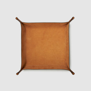 catch-all tray anson calder french calfskin leather _cognac-tan