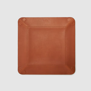 catch-all tray anson calder french calfskin leather *hover _cognac-tan