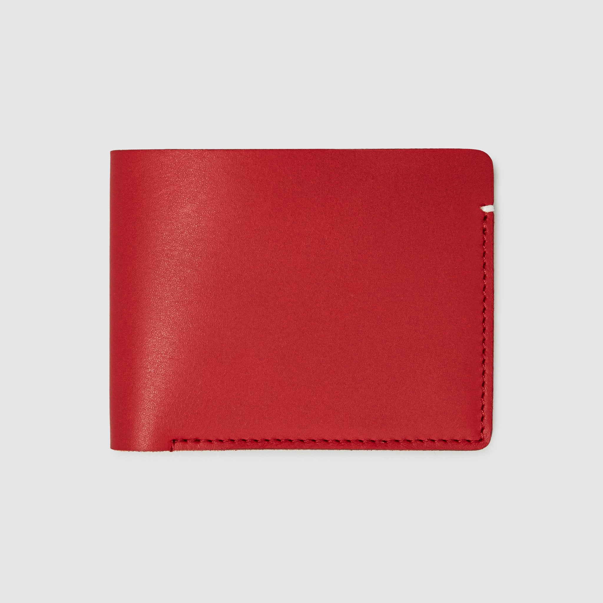 Anson Calder Billfold Wallet French Calfskin Leather _red