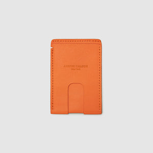 CASH WALLET WALLET ANSON CALDER French Calfskin Cognac Non-RFID_fshd-orange