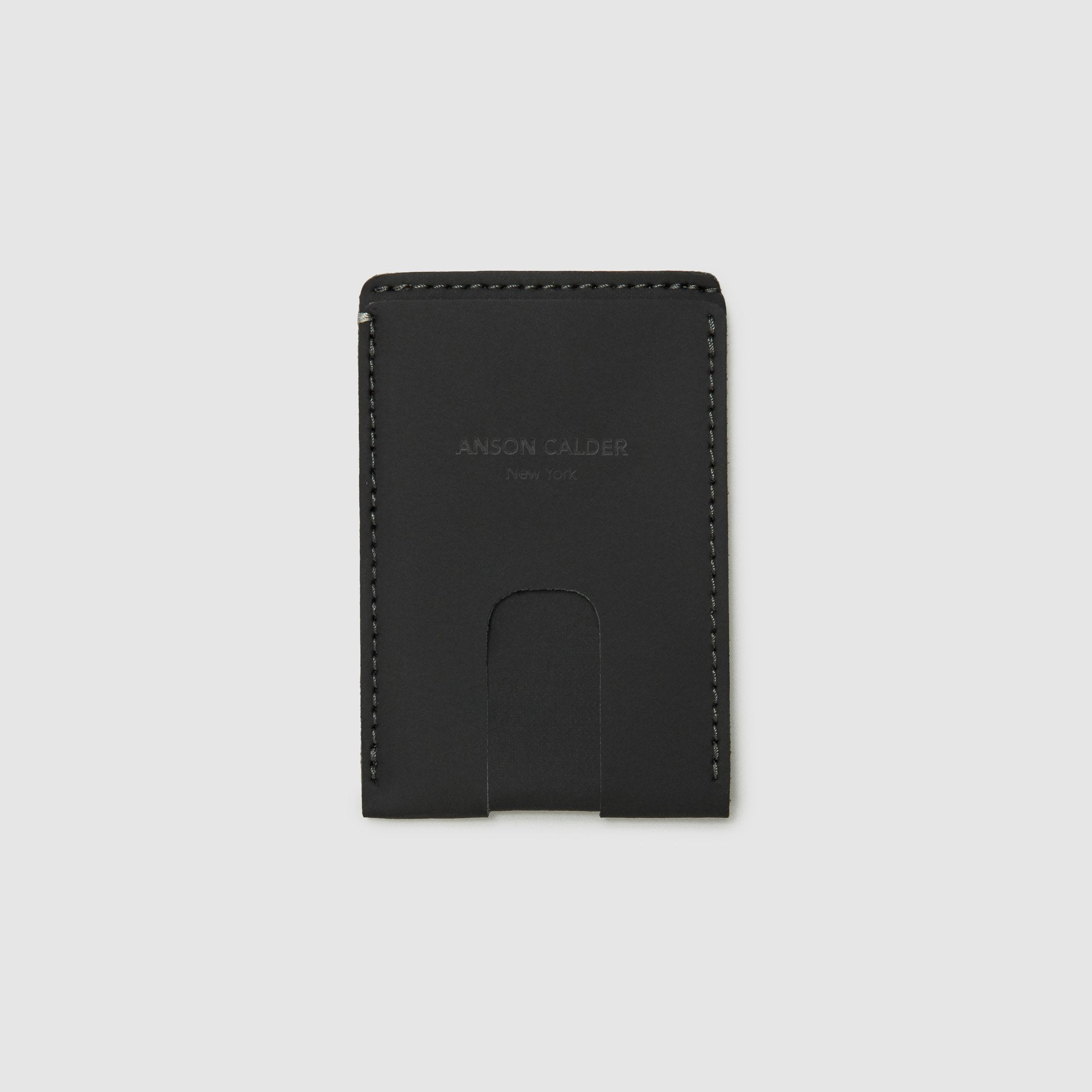 card wallet with cash pocket ANSON CALDER sport leather _sport-black