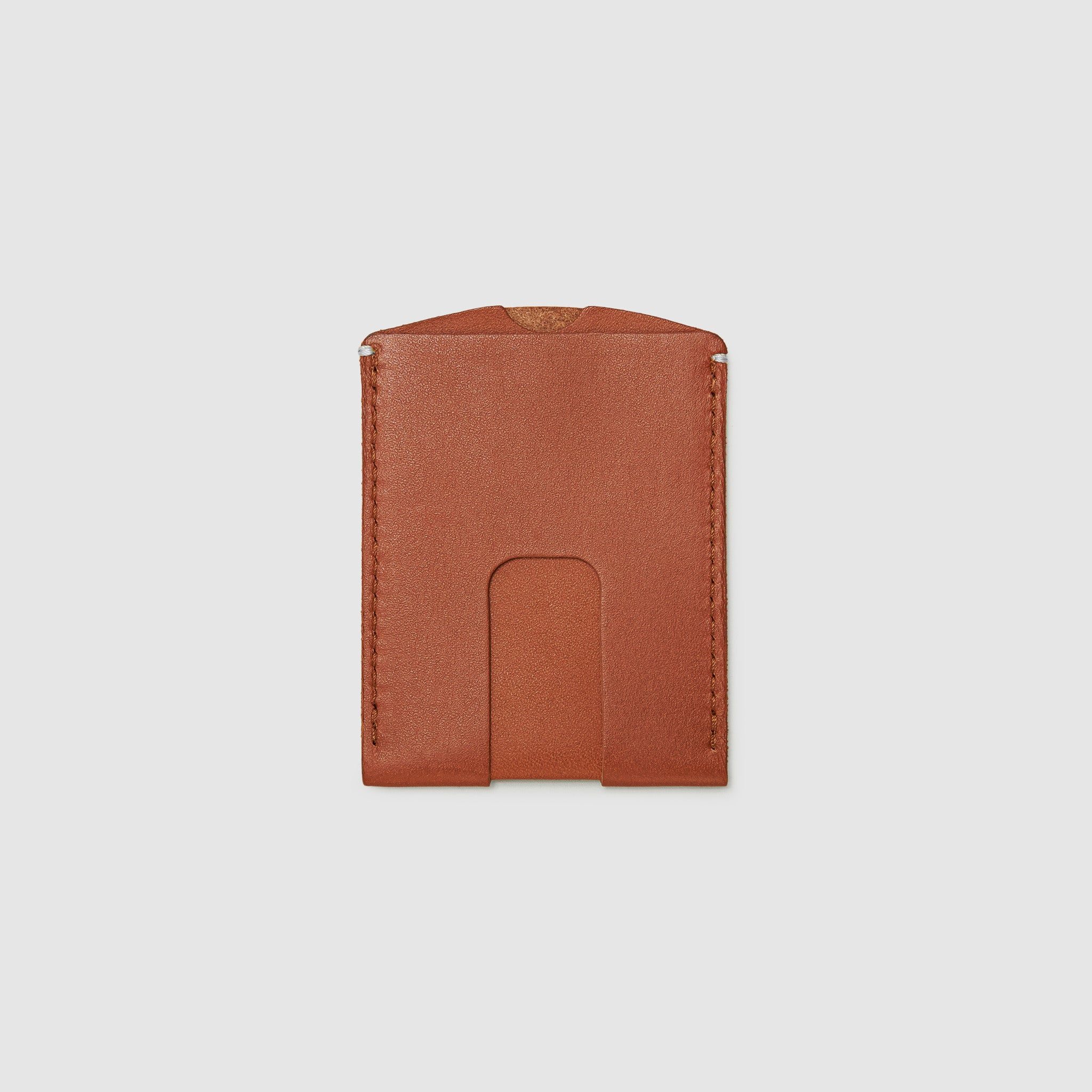 Anson Calder Card Holder Wallet french calfskin leather _cognac