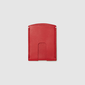 Anson Calder Card Holder Wallet french calfskin leather _red