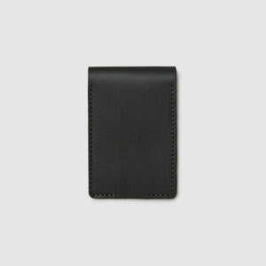 Anson Calder bifold or business card Wallet RFID french calfskin leather _black