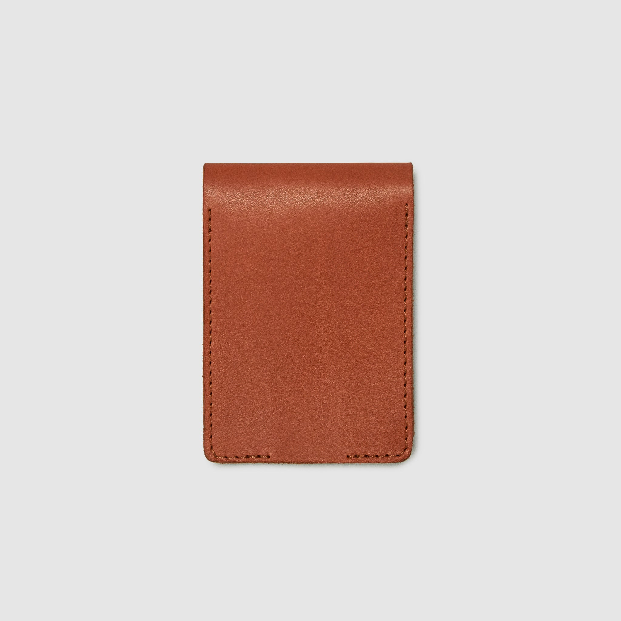 Anson Calder bifold or business card Wallet RFID french calfskin leather _cognac