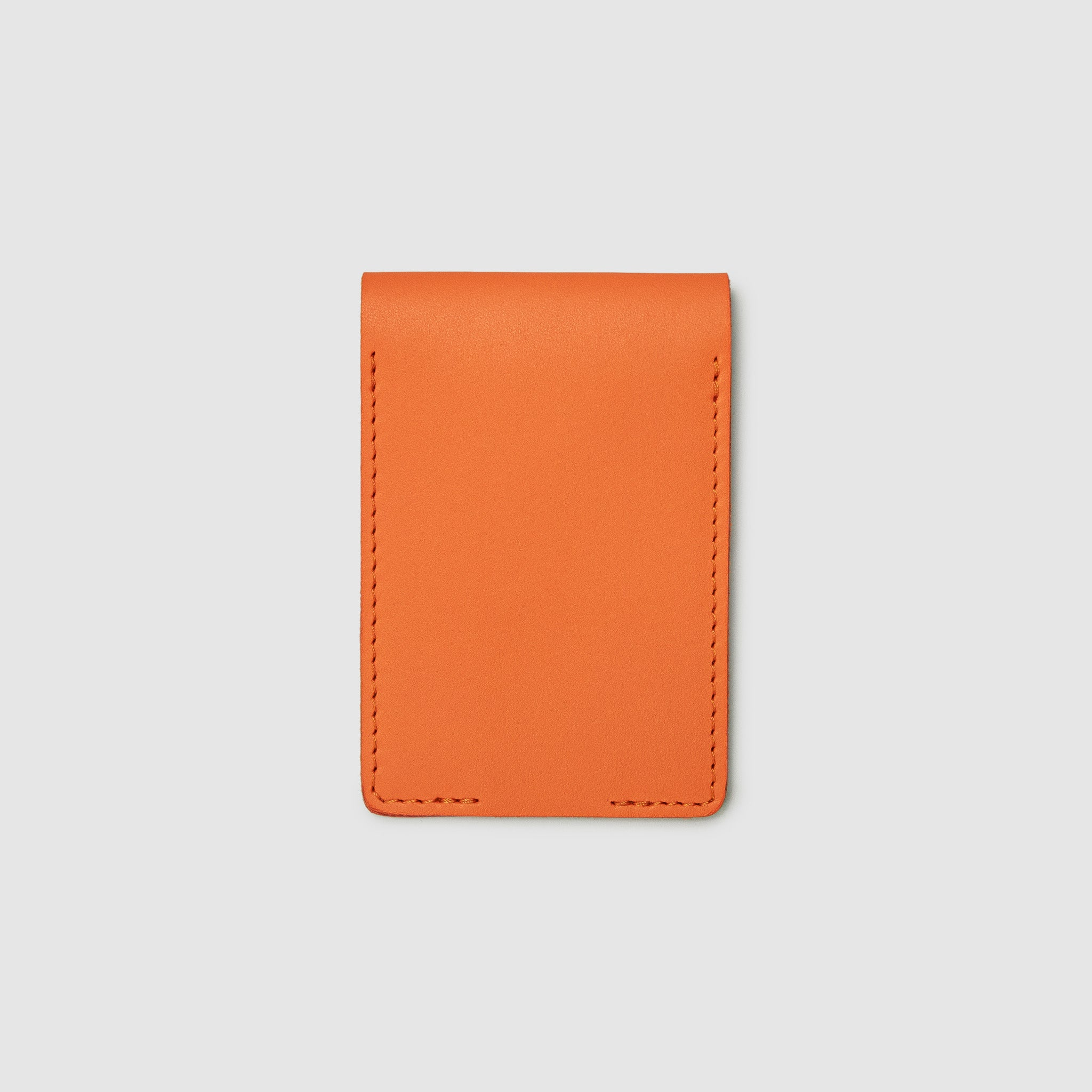 Anson Calder bifold or business card Wallet RFID french calfskin leather _fshd-orange