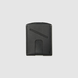 Anson Calder Card Holder Wallet french calfskin leather with cash slot _black