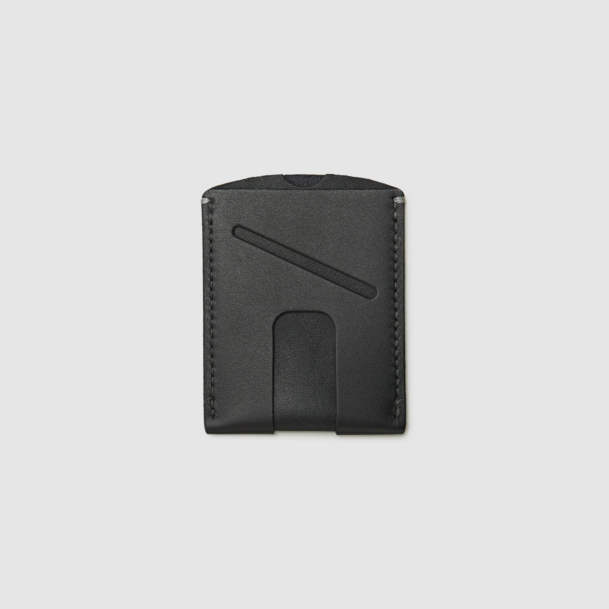 card wallet with cash slot minimal ANSON CALDER French Calfskin _blackPASSPORT WALLET WALLET ANSON CALDER french calfskin leather _black