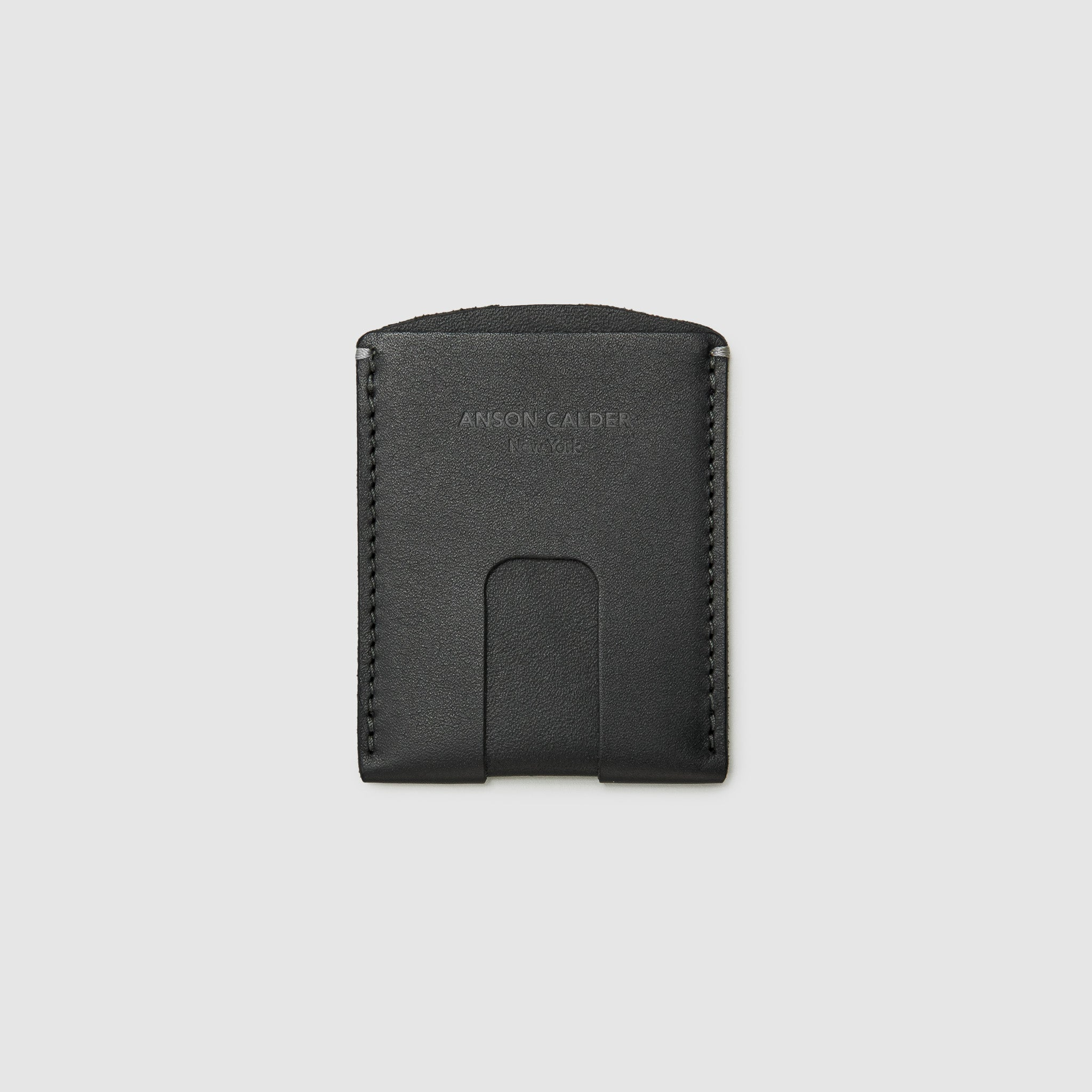 Anson Calder Card Holder Wallet french calfskin leather _black