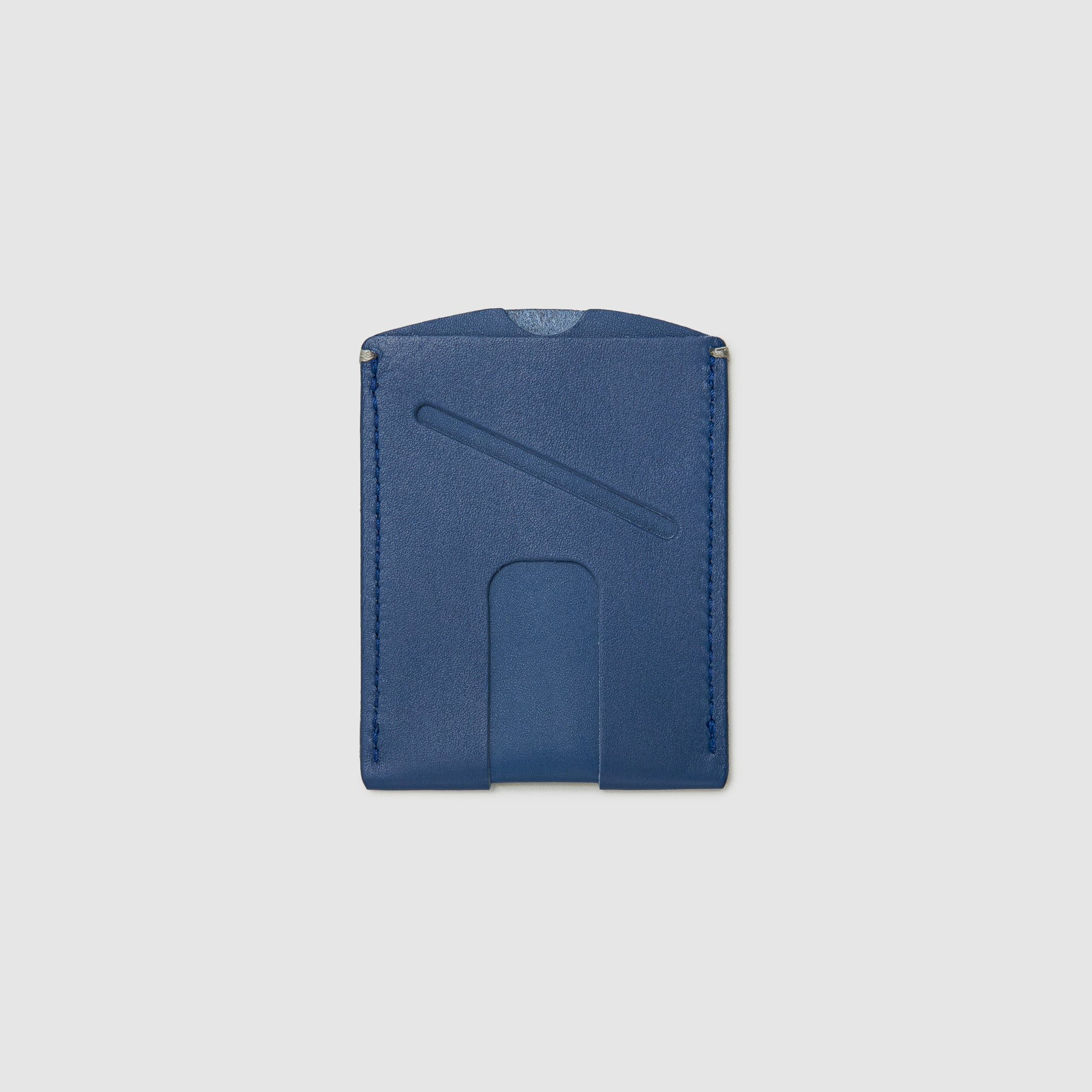 Anson Calder Card Holder Wallet french calfskin leather with cash slot _cobalt