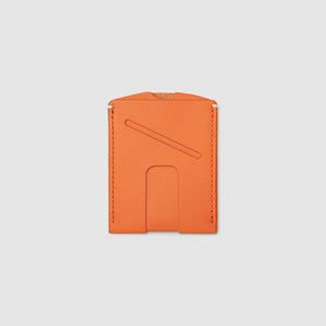 Anson Calder Card Holder Wallet french calfskin leather with cash slot _fshd-orange