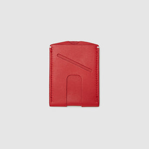 card wallet with cash slot minimal ANSON CALDER French Calfskin _blackPASSPORT WALLET WALLET ANSON CALDER french calfskin leather _red