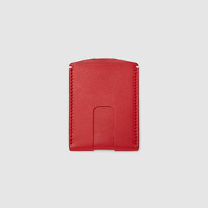 Anson Calder Card Holder Wallet french calfskin leather with cash slot _red