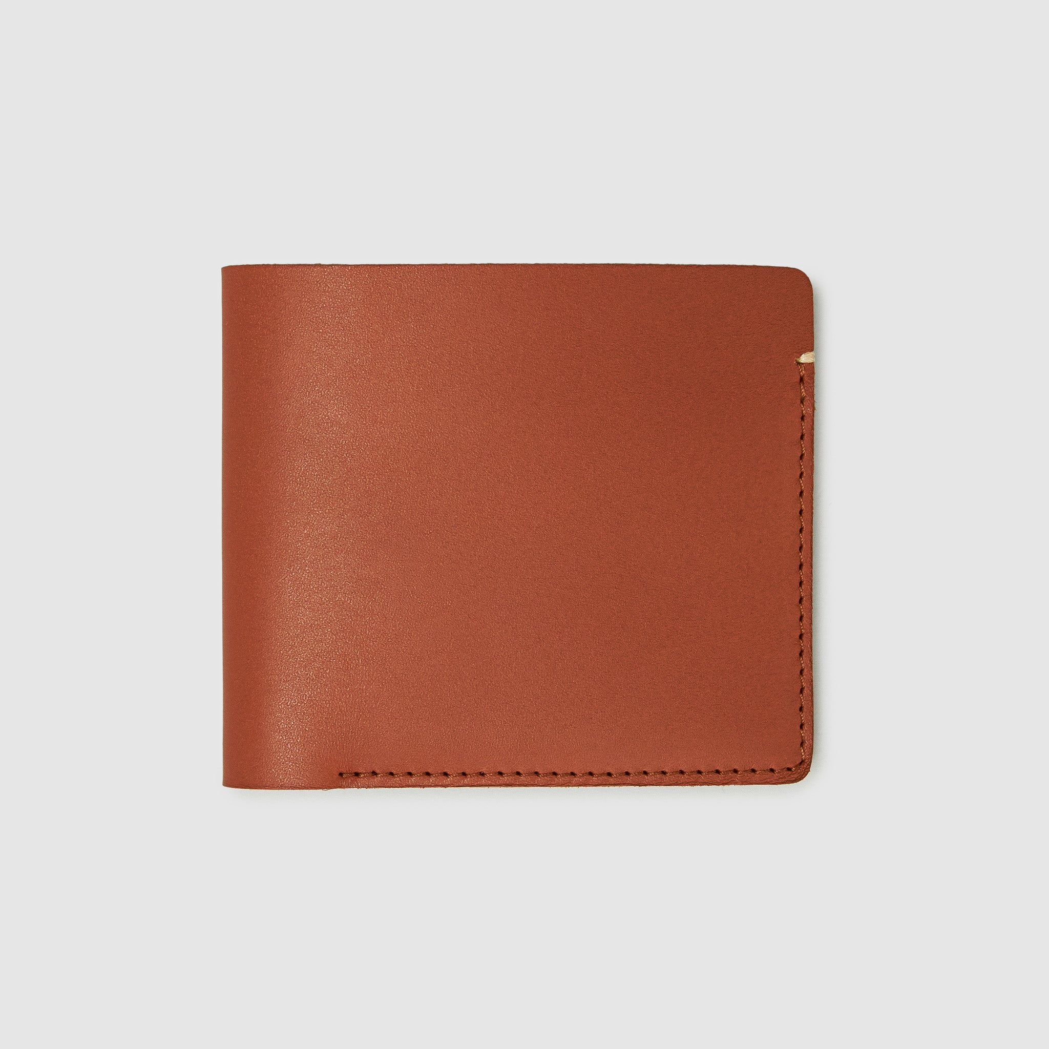 Anson Calder International Billfold Wallet RFID french calfskin leather _cognac