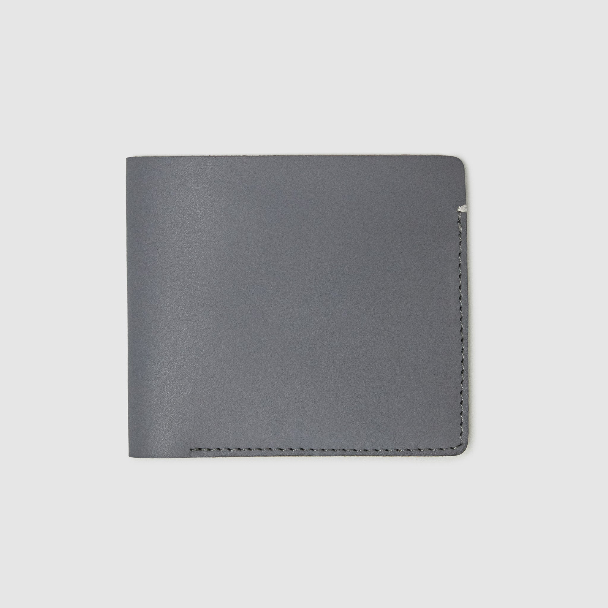 Anson Calder International Billfold Wallet RFID french calfskin leather _steel-grey
