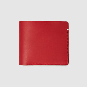 Anson Calder International Billfold Wallet RFID french calfskin leather _red