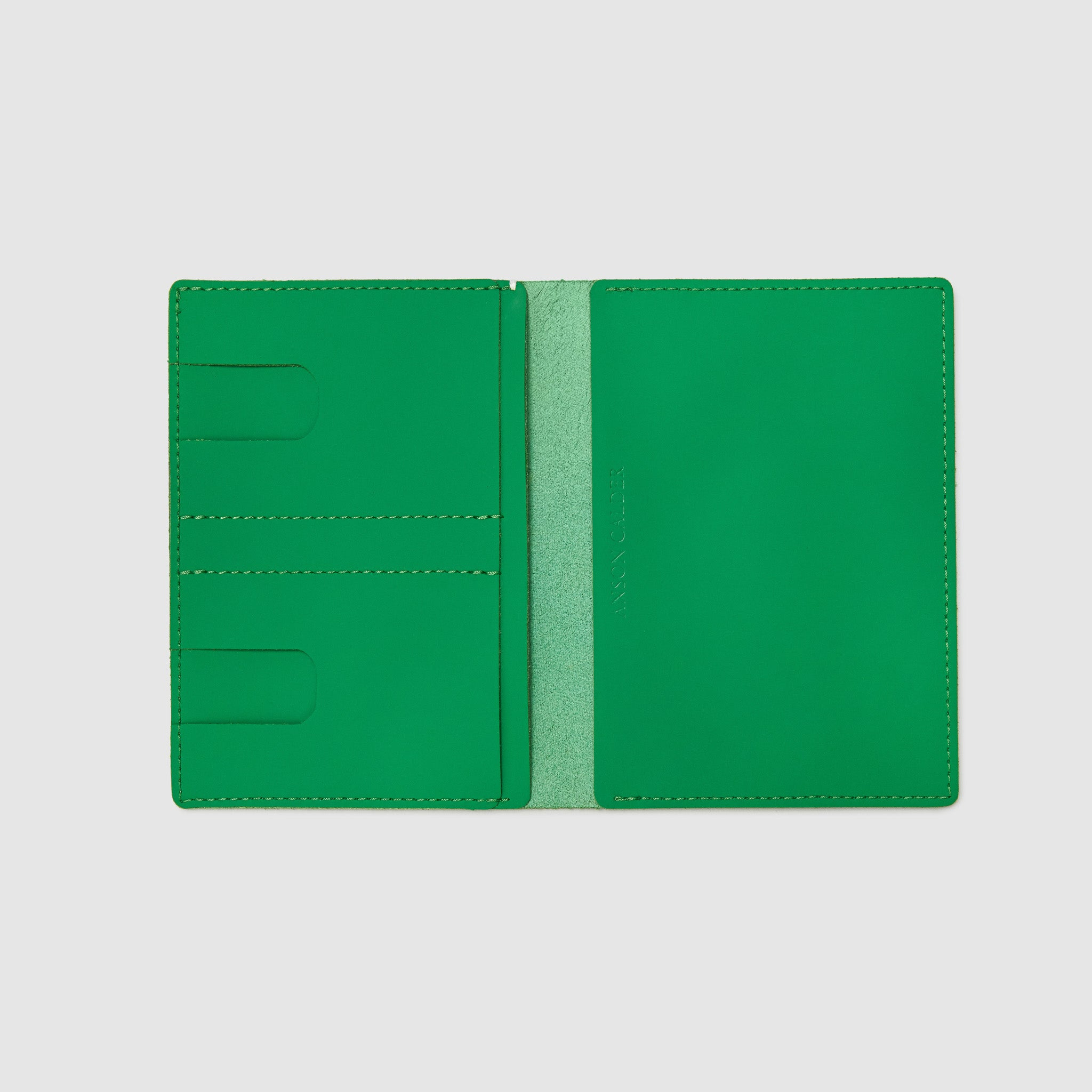 PASSPORT WALLET WALLET ANSON CALDER sport leather _sport-green