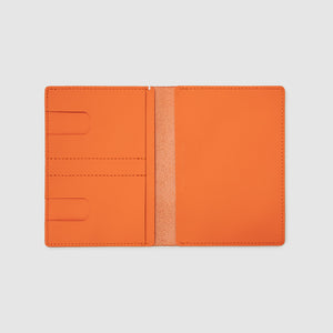 PASSPORT WALLET WALLET ANSON CALDER sport leather _sport-fshd-orange