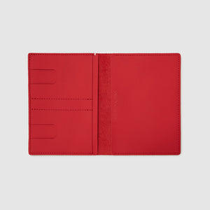 PASSPORT WALLET WALLET ANSON CALDER sport leather _sport-red