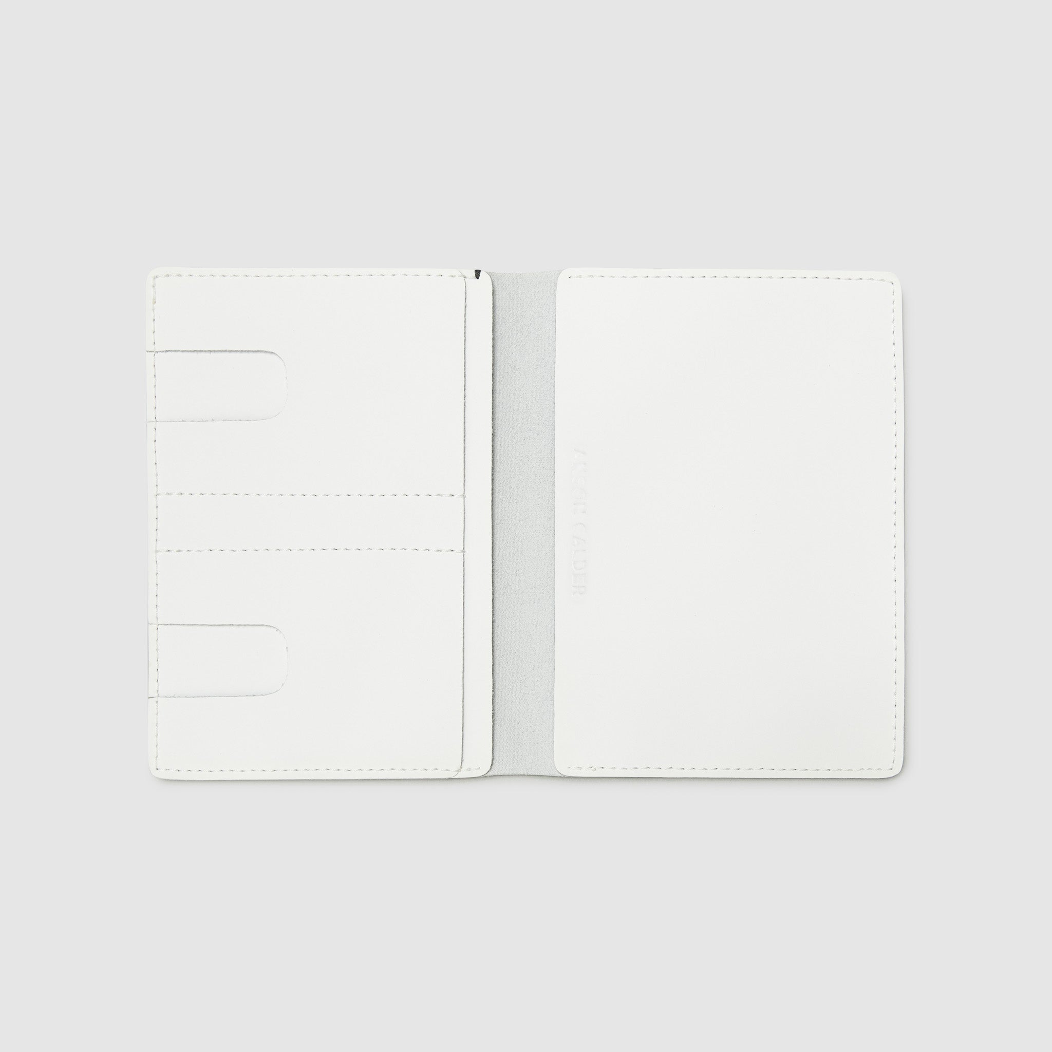 PASSPORT WALLET WALLET ANSON CALDER sport leather _white