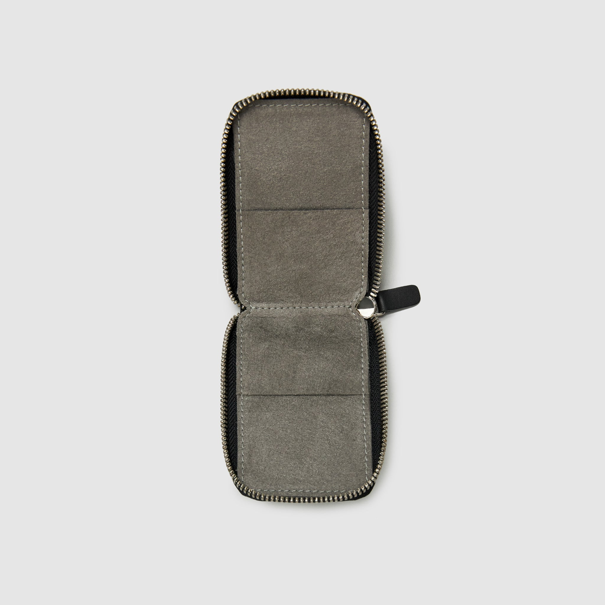 Anson Calder zip-around Wallet with zipper and pockets RFID french calfskin leather *hover _black
