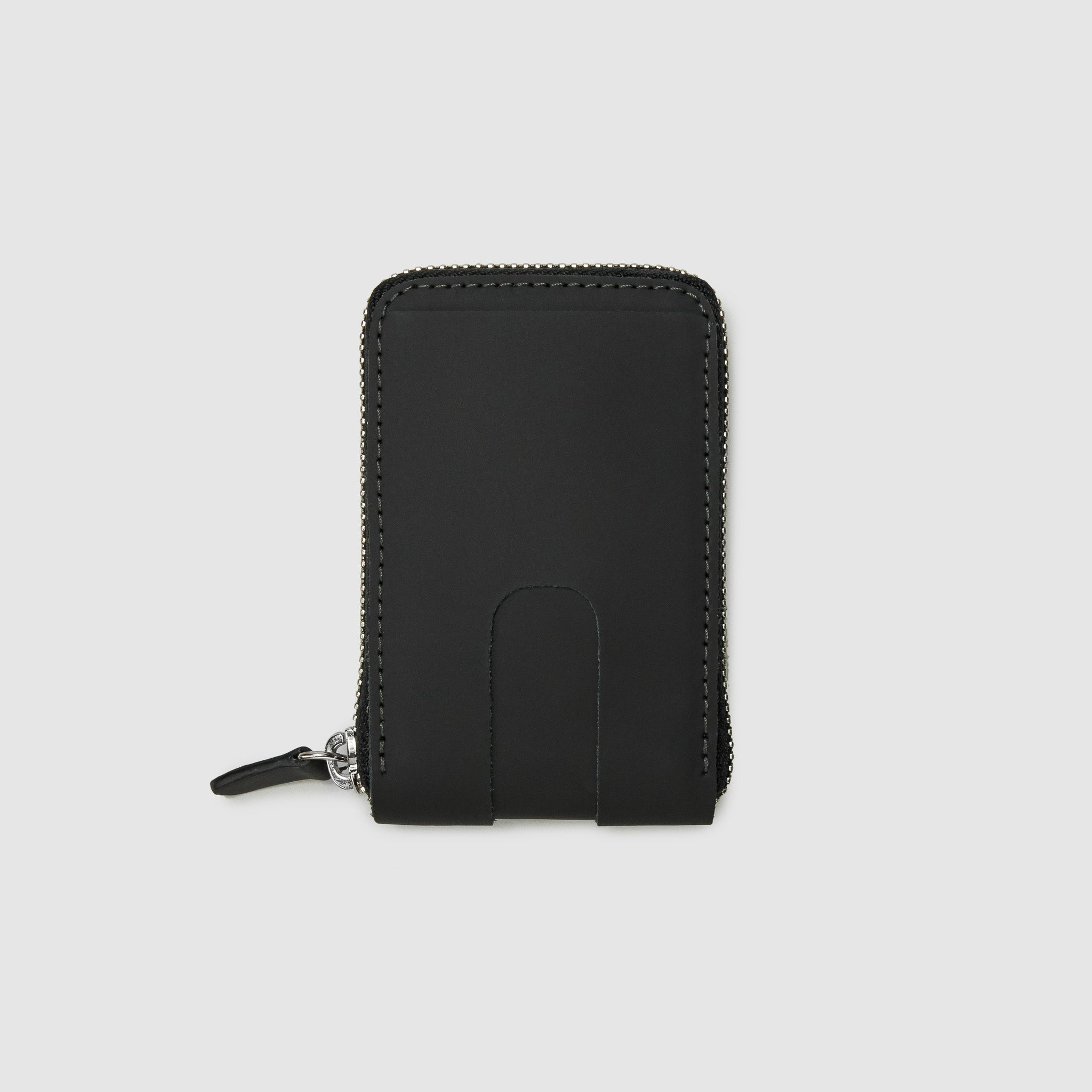 Anson Calder zip-around Wallet with zipper and pockets RFID sport leather _sport-black
