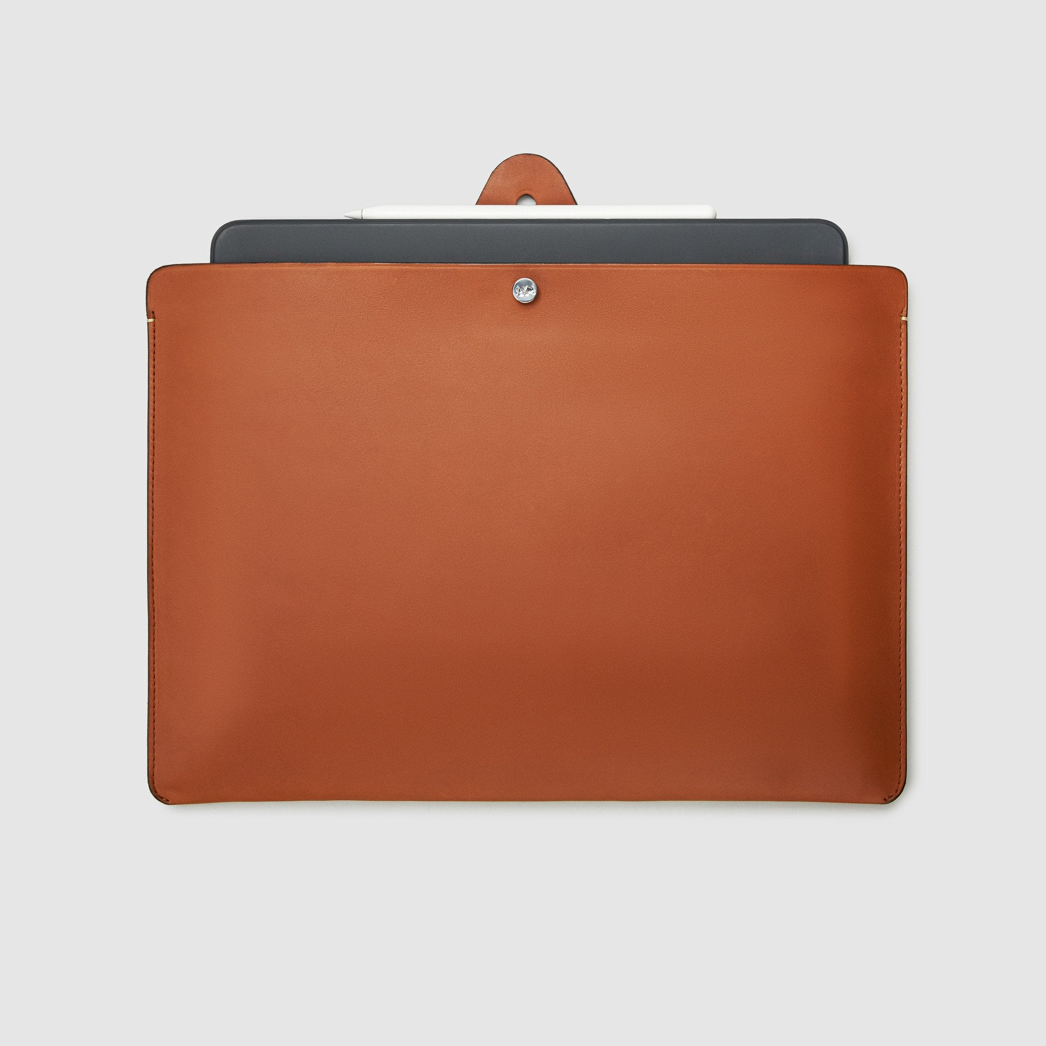 Anson Calder ipad pro sleeve case french calfskin _cognac