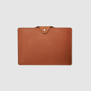 french calfskin document case anson calder _cognac
