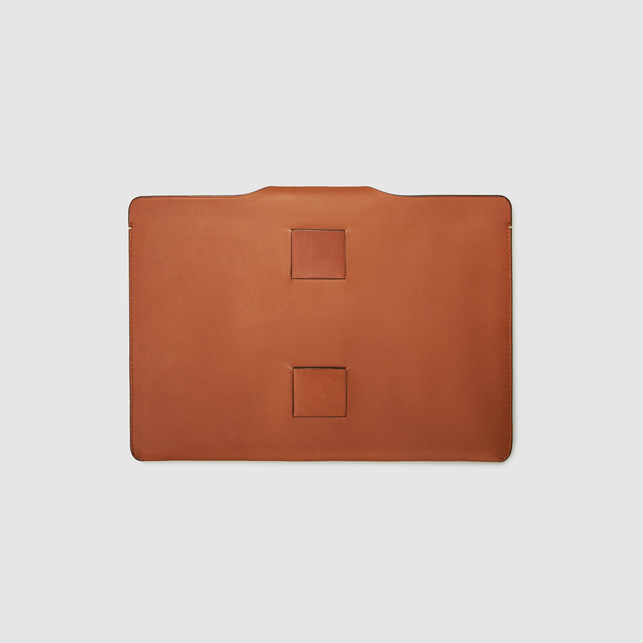 french calfskin document case anson calder *hover _cognac