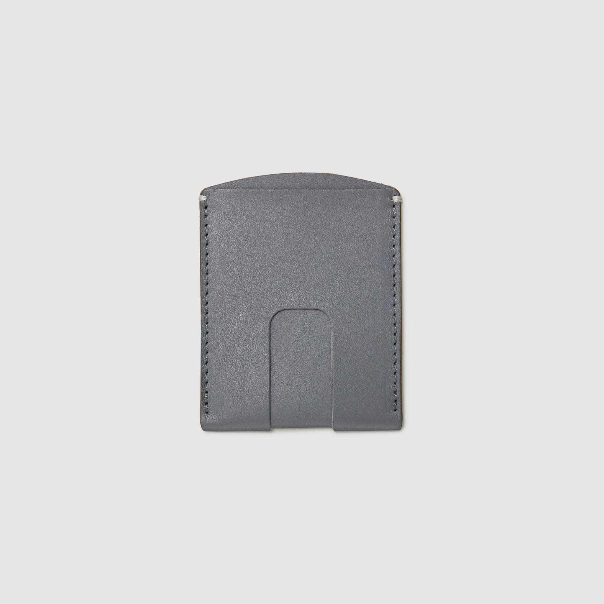Anson Calder Card Holder Wallet french calfskin leather _steel-grey