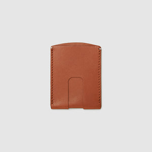 Anson Calder Card Holder Wallet french calfskin leather with cash slot _cognac