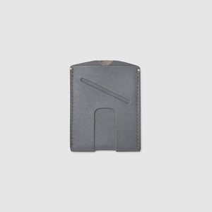 card wallet with cash slot minimal ANSON CALDER French Calfskin _blackPASSPORT WALLET WALLET ANSON CALDER french calfskin leather _steel-grey