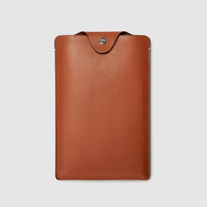 NOTEBOOK CASE CASES ANSON CALDER Large Moleskine French Calfskin _Cognac