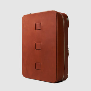 BACKPACK Bags ANSON CALDER French Calfskin leather minimal modern design designer cognac brown _cognac