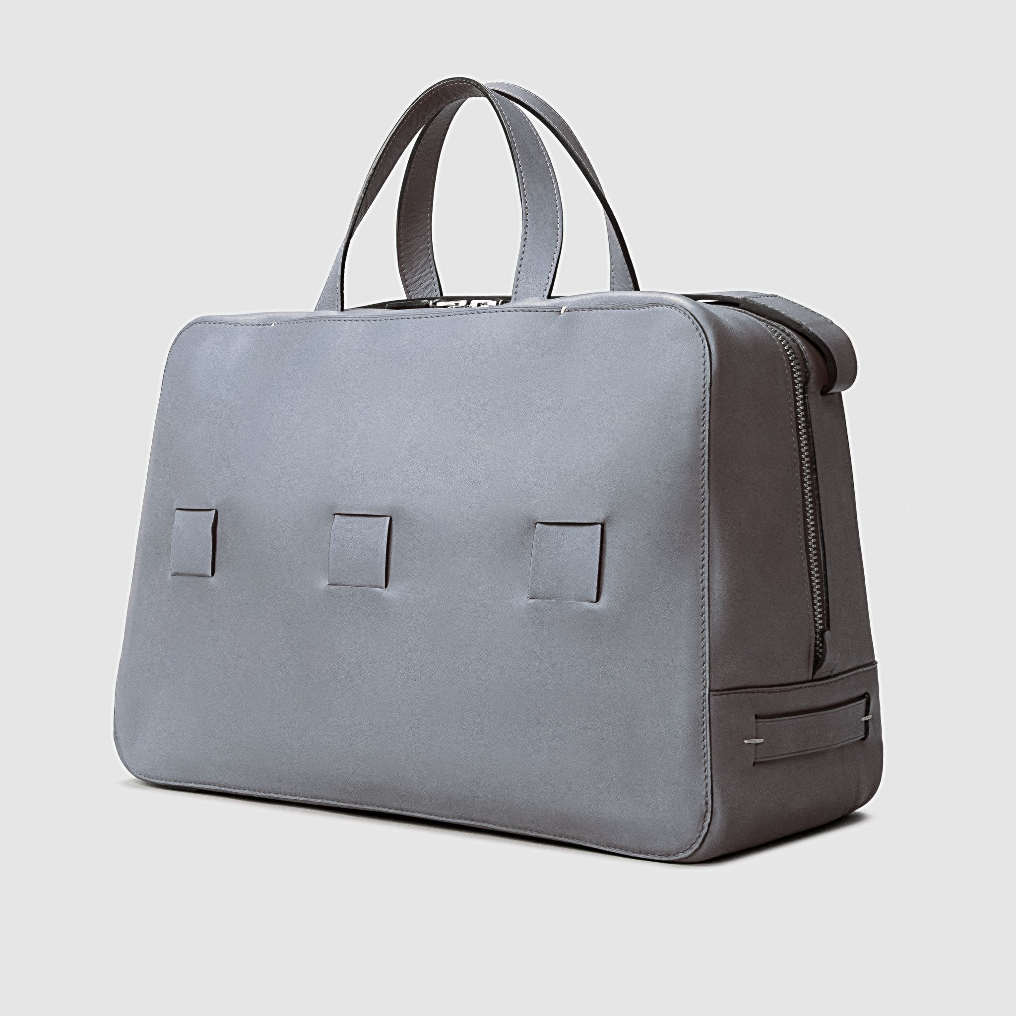 day bag anson calder french calfskin  *hover _steel-grey